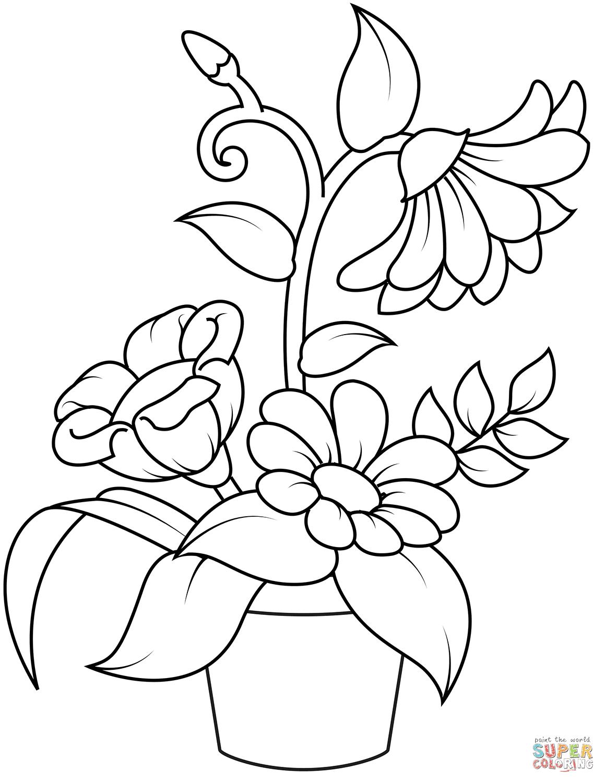Coloriage Pot De Fleurs Coloriages à Imprimer Gratuits