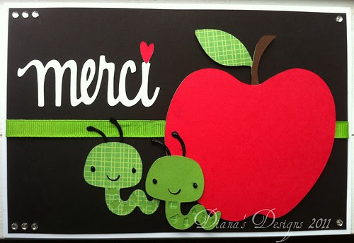 Teacher Thank You Card (Merci)
