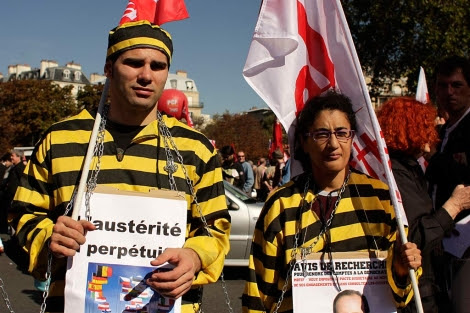 Participantes en la marcha de París.| R. V.