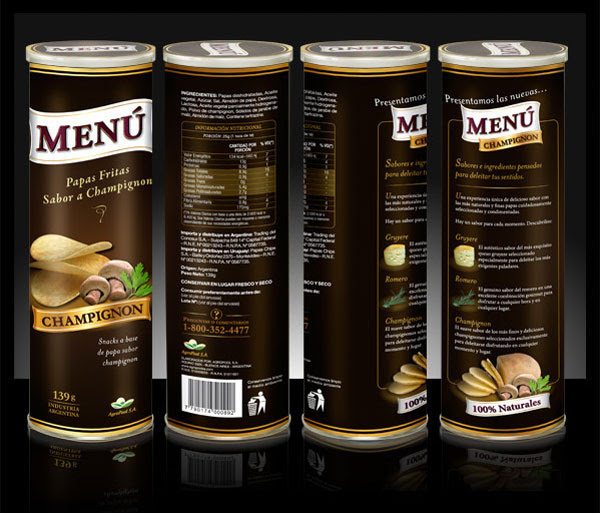 Menu potato chips packaging Design 2 30+ Crispy Potato Chips Packaging Design Ideas
