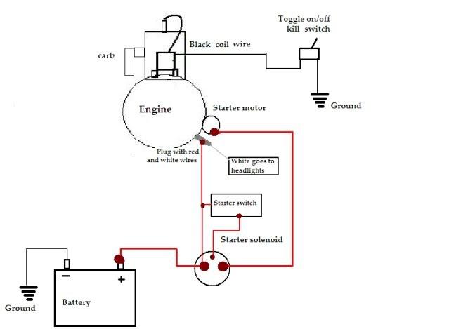 Lawn Mower Charging System Diagram
