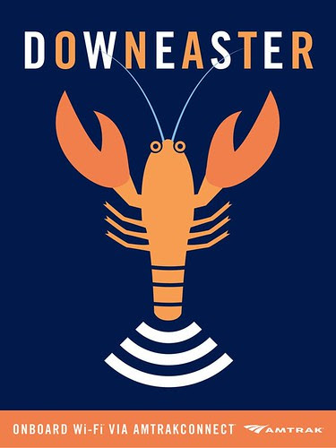 AMTRAK DOWNEASTER Wi-Fi Poster by stevegarfield