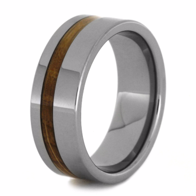 Tungsten Ring Genuine Whiskey Barrel Wedding Band Tungsten Rings Us