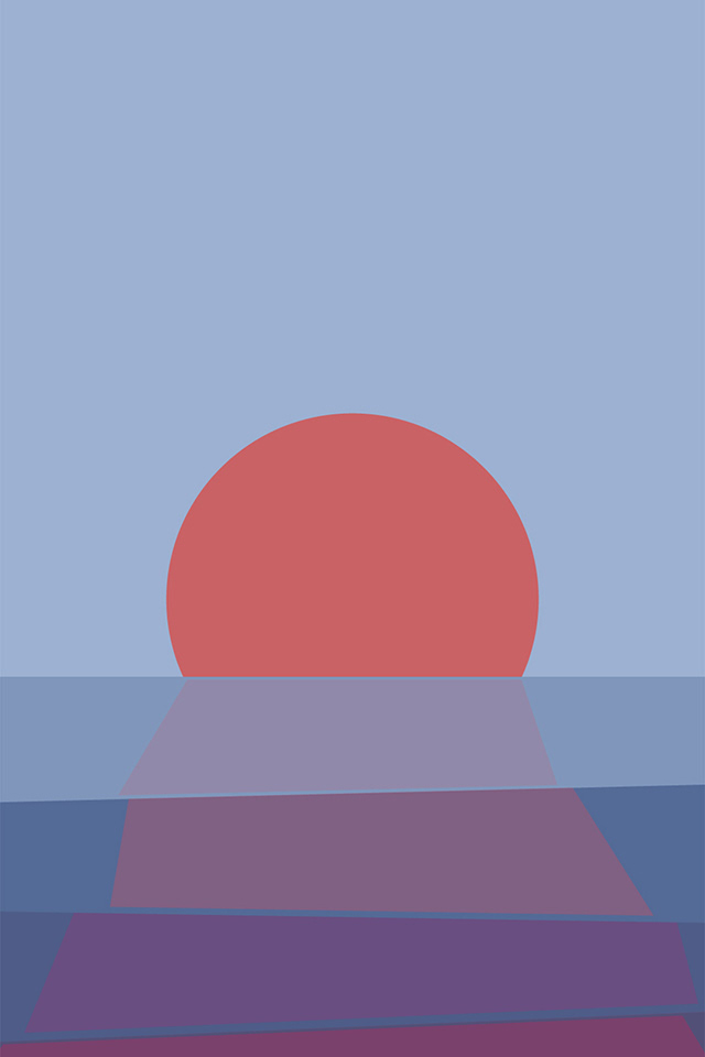 Minimal Sunset iPhone Wallpaper HD
