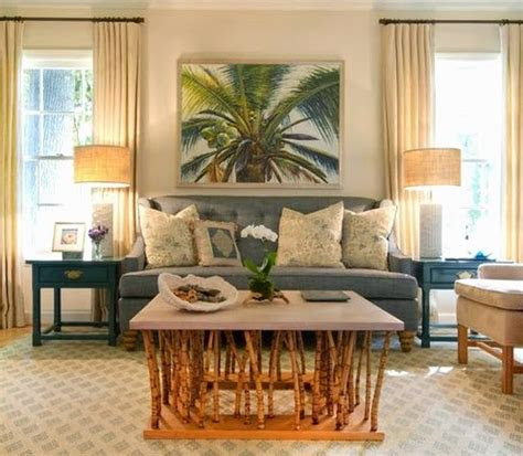 lush living  tropical living room decor coastal