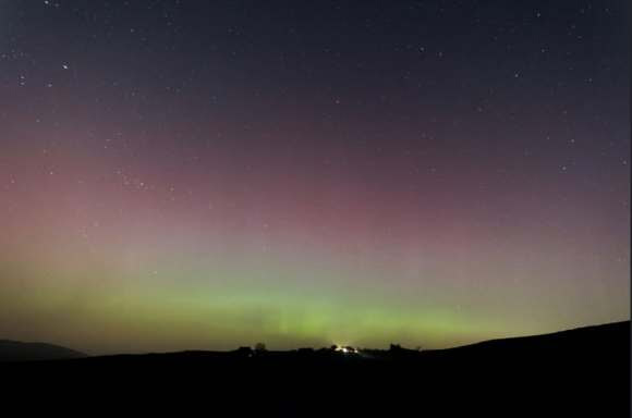 Aurora borealis as seen from Leek in Staffordshire, England on March 17, 2015. Credit and copyright: Gareth Harding.