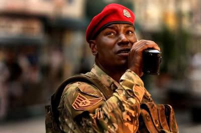 Tyrese Gibson as Sergeant Epps in last year's TRANSFORMERS.