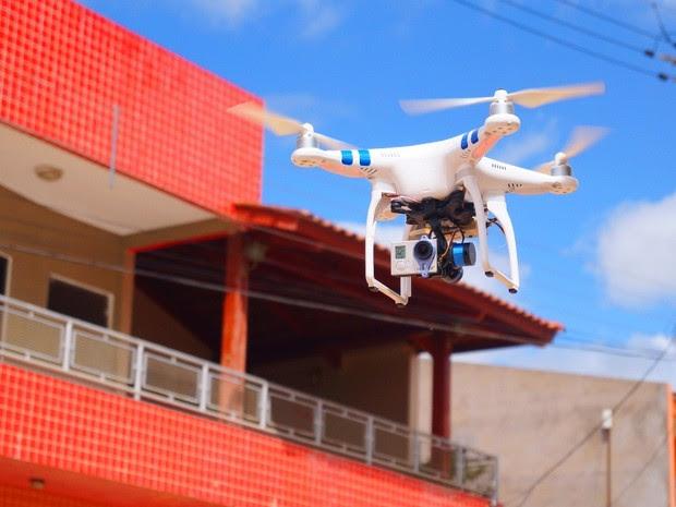 Drone é usado para mapeamento da cidade de Ipubi (Foto: Álison Édypo Alencar / Arquivo pessoal)