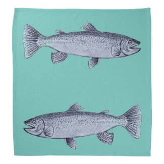 Trout Art on Bandana