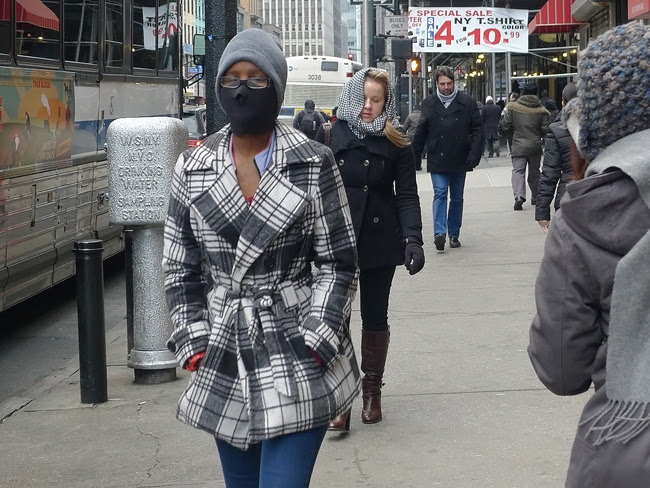 Masked, in nyc