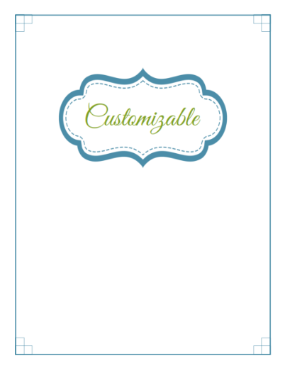 Editable Cover Label or Section Divider ~ 4 Printable Set ...