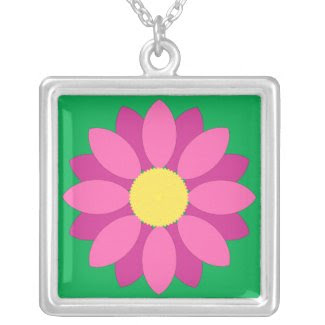 Pink Flower Necklace necklace