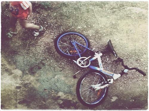 Too big a bike by Eva Psarrou