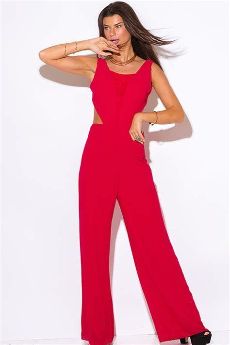 Red Formal Jumpsuit   Fashion Ql