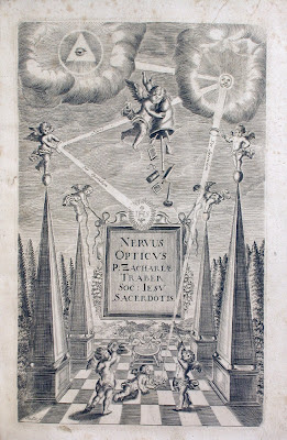 allegorical picture of optics and heavens