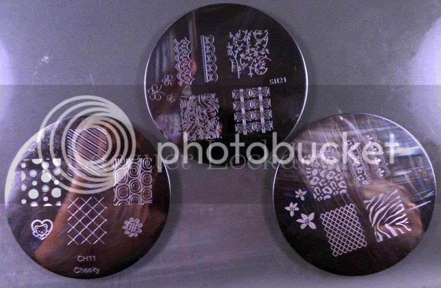 Lacquer Lockdown - CH11, SH21, M57, Shany 2012 plates, Cheeky Nail Art Plates, Konad, stamping