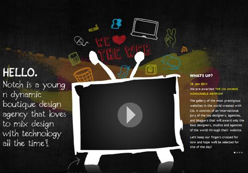 40 diseños web muy creativos - notch studio