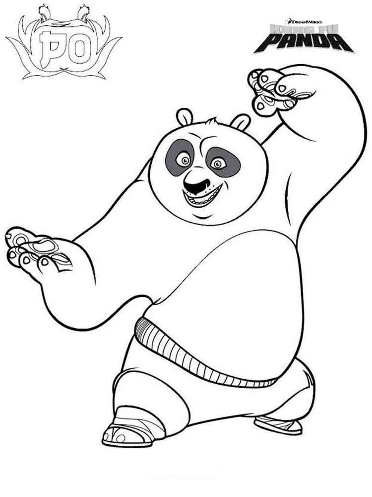 Kung Fu Panda 3 ücretsiz Boyama Resimleri