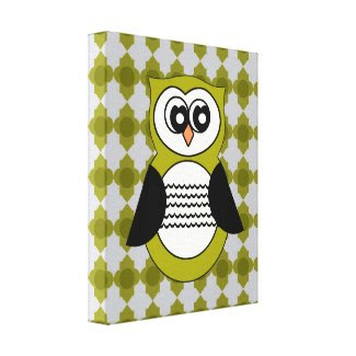 Owl Stretched Canvas Print