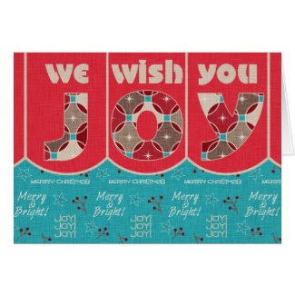 We Wish You Joy, Christmas Card, You Customize Greeting Card