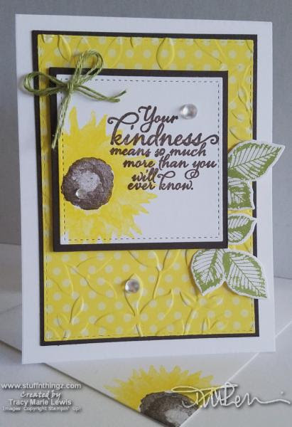 Sunflower Kindness Card | Tracy Marie Lewis | www.stuffnthingz.com