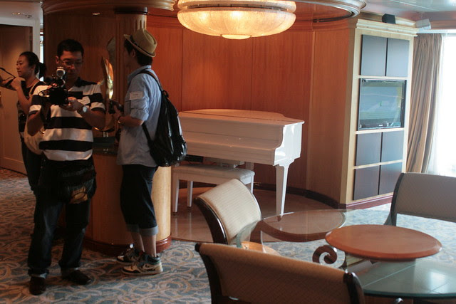 The Royal Suite has a baby grand piano!