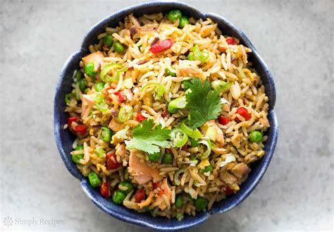 salmon fried rice recipe simplyrecipescom