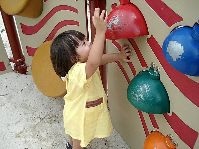 Musical bells at the sandpit