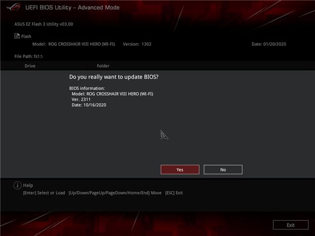 Actualización de BIOS para una placa base ASUS