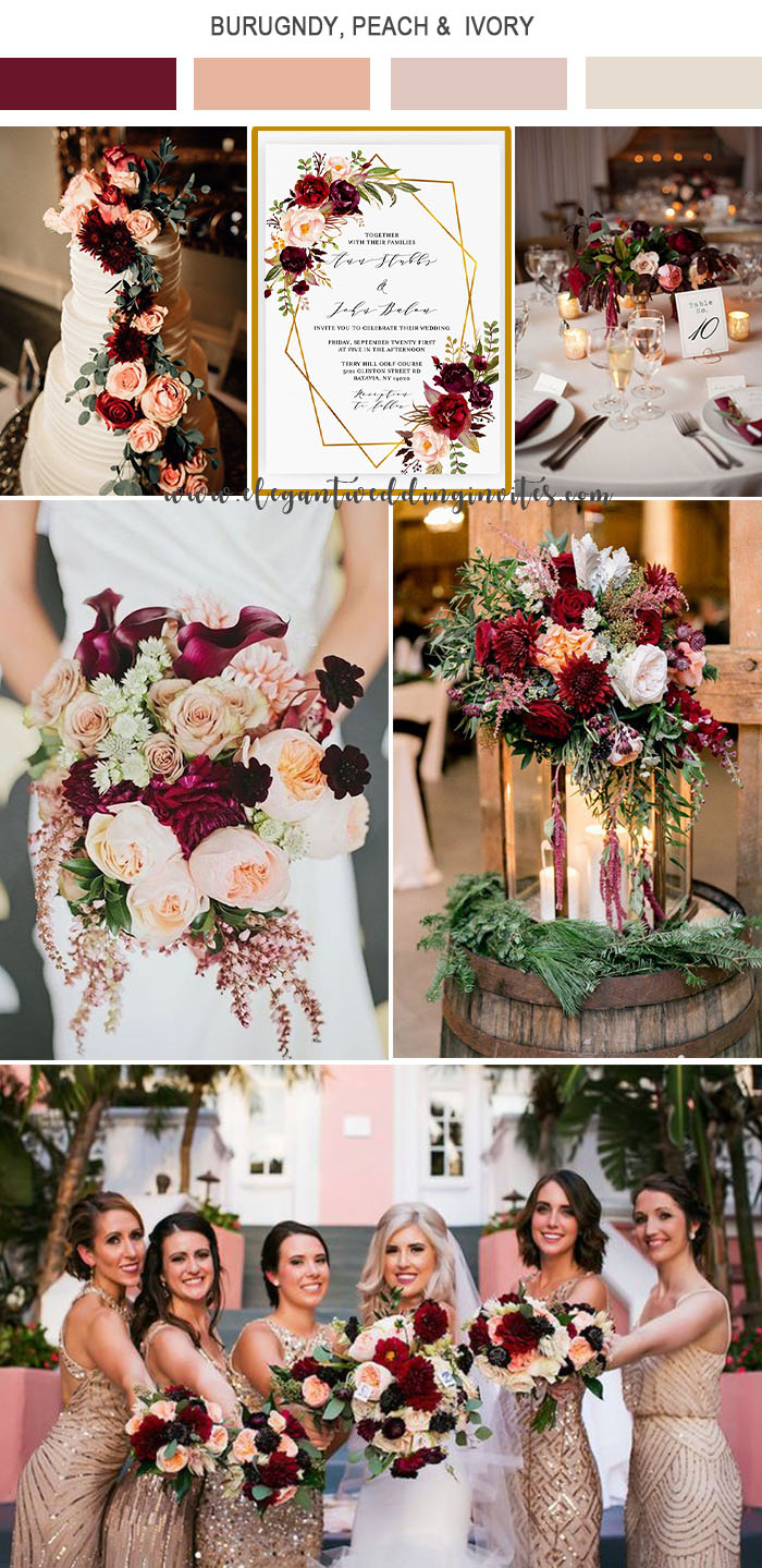 5 Amazing Wedding Color Palettes Inspired EWI Floral Invitations