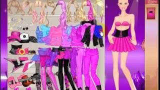 Juegos De Vestir Elegante Barbie Roquera Juegos De Vestir