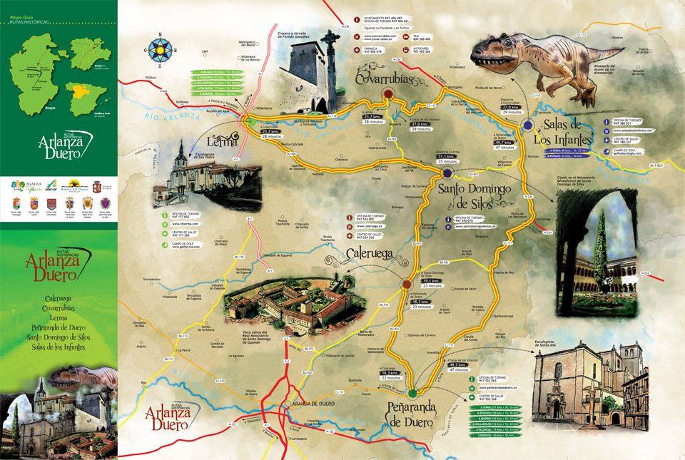Mapa Turistico Burgos Provincia.Mapa Turistico Burgos Provincia Mapa