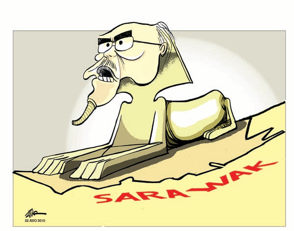 Delusions of grandeur - force from his position as CM Taib is now desperate to prove he is all powerful in Sarawak