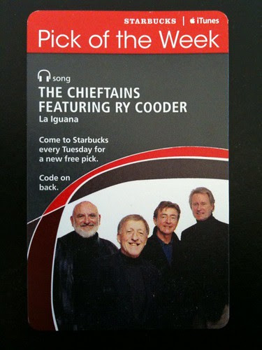 Starbucks iTunes Pick of the Week - The Chieftains featuring Ry Cooder - La Iguana #fb