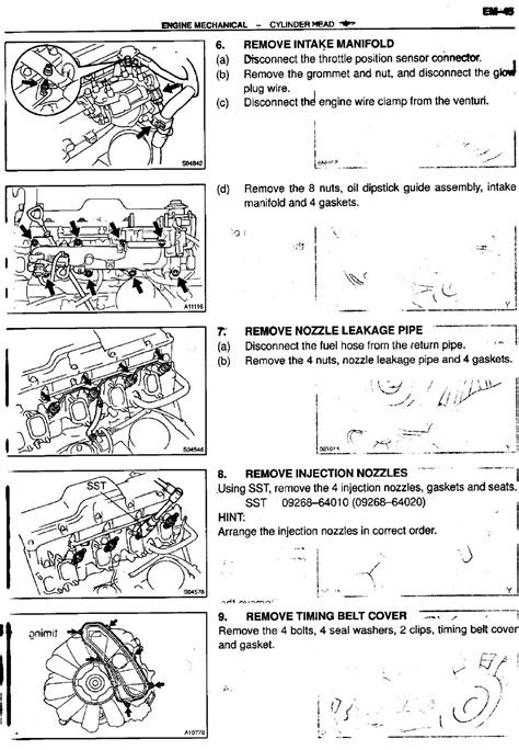 Service Manual for Toyota 1kz-te Turbo Diesel Engine