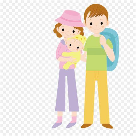 child parent cartoon infant hold  babys parents png