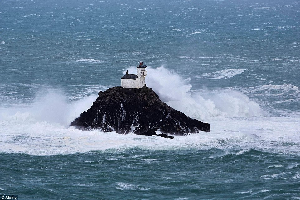Perched precariously on a tiny island off the coast of Brittany is the lighthouse of Tévennec, which is said to be haunted
