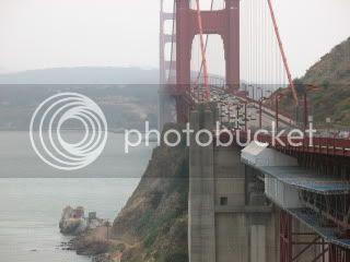 Looking across Golden Gate Bridge
