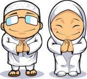Cartoon of Muslim Man & Woman Stock Image
