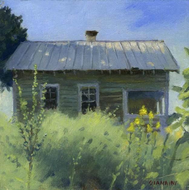 Nina Simone Childhood Home #2 ,6 x 6 in., oil on linen