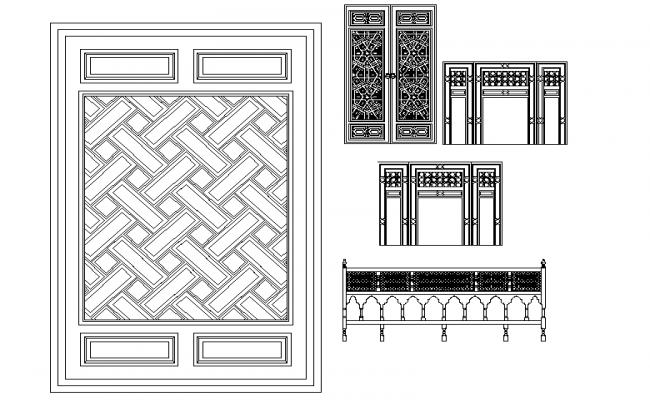 islamic door design dwg  | 1006 x 782