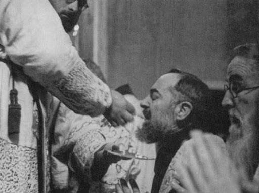 Image result for padre pio communion