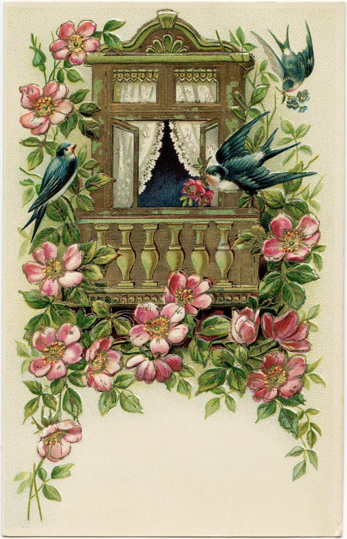 Old Fashioned Christmas Card Greetings Sinter B