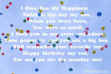 Son Birthday Poems