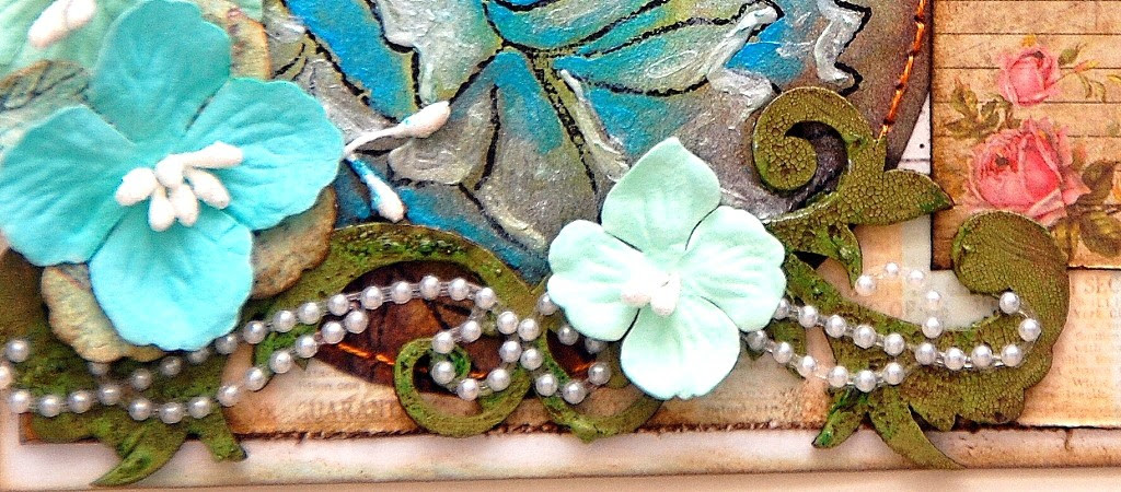 Flower Mail Art by Irene Tan using Marion Smith Designs