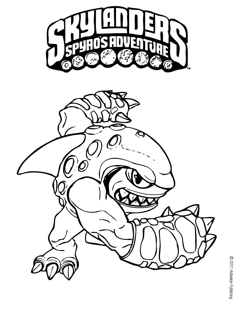 Free Skylanders Coloring Pages At Getdrawingscom Free For