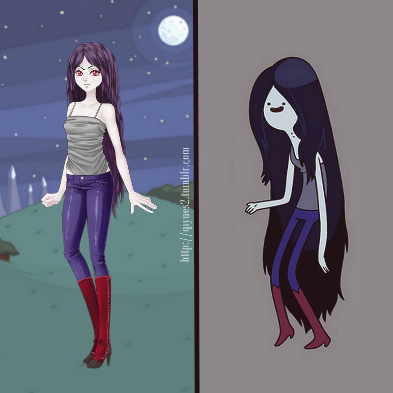 SUCRETTE COSPLAY [06] - Marceline 2(Adventure Time)Bota vitoriana vermelhaPele ChantillyPeruca Dia dos NamoradosCalça de couro azul marinhoTop estrela cinza
