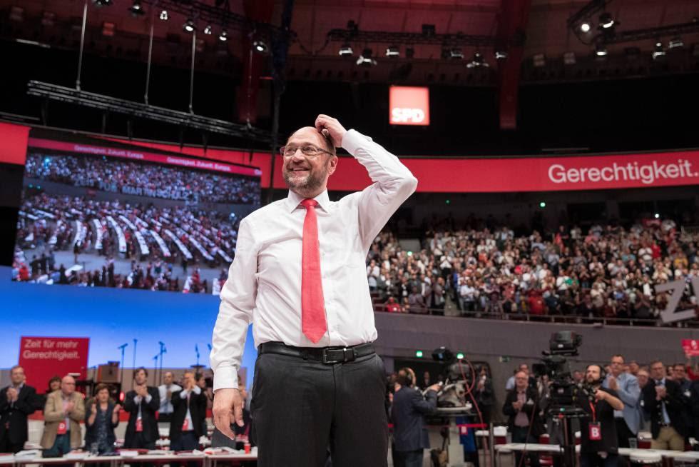 Martin Schulz, candidato de los socialdemócratas alemanes, en el congreso del partido el 25 de junio en Dortmund.