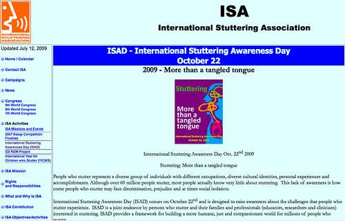 International Stuttering Association - ISAD