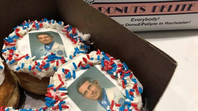 Shop making Dr. Fauci doughnuts says demand is skyrocketing — and now they have plans for 2 more 'Doc Donuts'